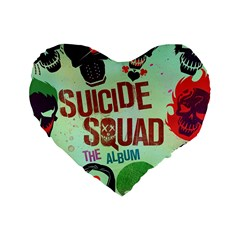 Panic! At The Disco Suicide Squad The Album Standard 16  Premium Heart Shape Cushions