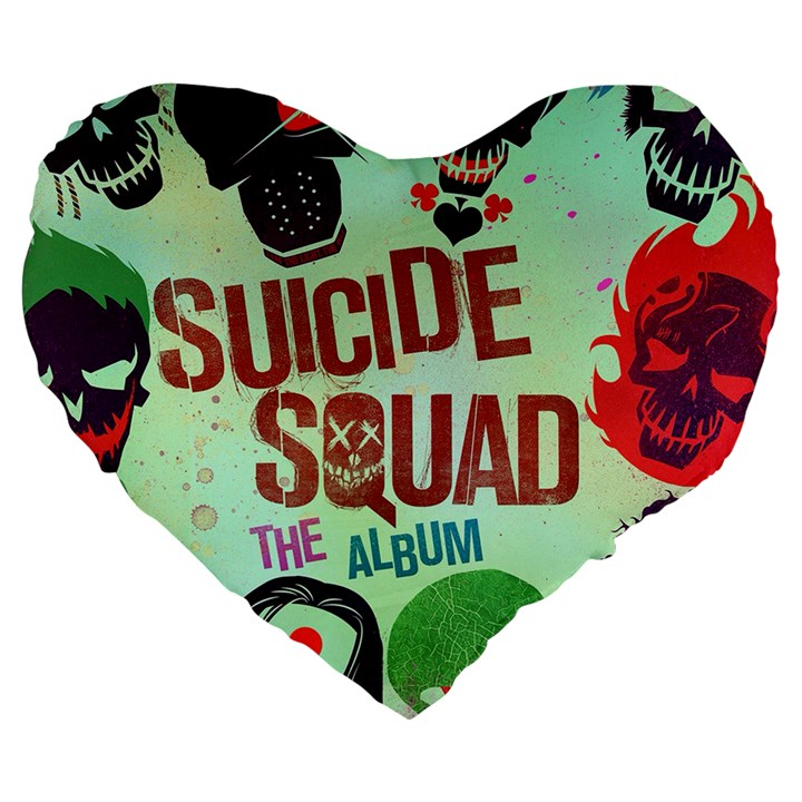 Panic! At The Disco Suicide Squad The Album Large 19  Premium Heart Shape Cushions
