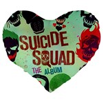 Panic! At The Disco Suicide Squad The Album Large 19  Premium Heart Shape Cushions Back