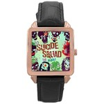Panic! At The Disco Suicide Squad The Album Rose Gold Leather Watch  Front