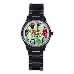 Panic! At The Disco Suicide Squad The Album Stainless Steel Round Watch