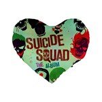 Panic! At The Disco Suicide Squad The Album Standard 16  Premium Flano Heart Shape Cushions Front