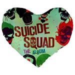 Panic! At The Disco Suicide Squad The Album Large 19  Premium Flano Heart Shape Cushions Front