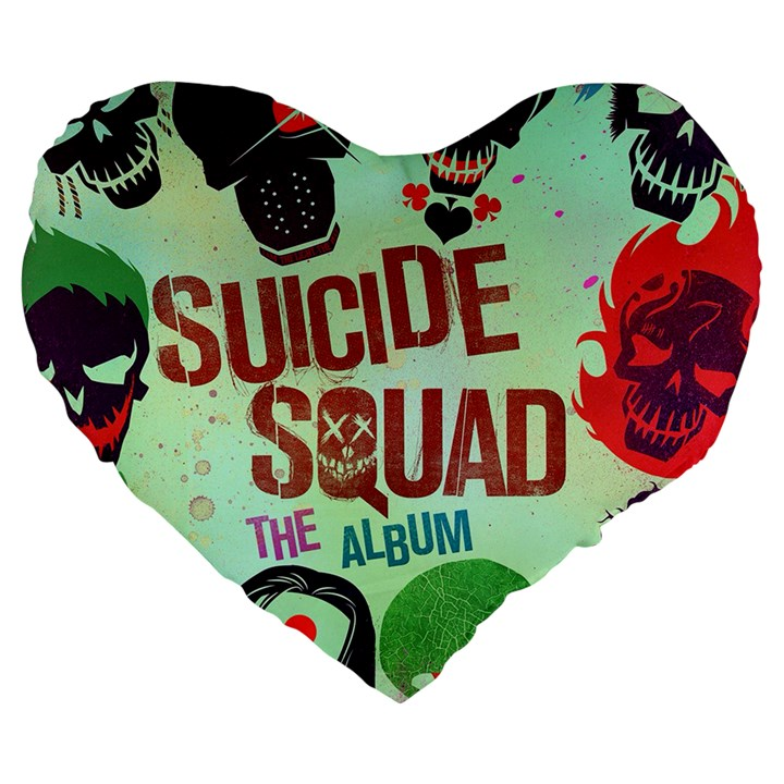 Panic! At The Disco Suicide Squad The Album Large 19  Premium Flano Heart Shape Cushions