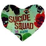 Panic! At The Disco Suicide Squad The Album Large 19  Premium Flano Heart Shape Cushions Back