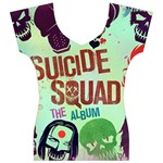 Panic! At The Disco Suicide Squad The Album Women s V-Neck Cap Sleeve Top Front