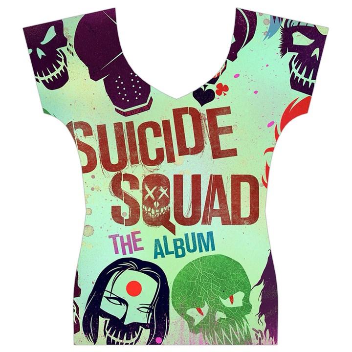 Panic! At The Disco Suicide Squad The Album Women s V-Neck Cap Sleeve Top