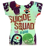 Panic! At The Disco Suicide Squad The Album Women s V-Neck Cap Sleeve Top Back