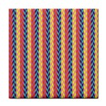 Colorful Chevron Retro Pattern Tile Coasters Front