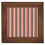 Colorful Chevron Retro Pattern Framed Tiles Front