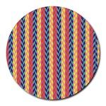 Colorful Chevron Retro Pattern Round Mousepads Front