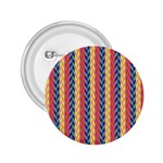 Colorful Chevron Retro Pattern 2.25  Buttons Front