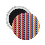 Colorful Chevron Retro Pattern 2.25  Magnets Front