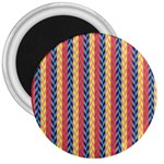 Colorful Chevron Retro Pattern 3  Magnets Front