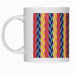 Colorful Chevron Retro Pattern White Mugs Left