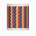 Colorful Chevron Retro Pattern White Mugs Center