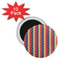 Colorful Chevron Retro Pattern 1.75  Magnets (10 pack)  Front