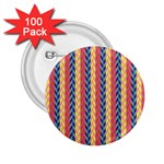 Colorful Chevron Retro Pattern 2.25  Buttons (100 pack)  Front