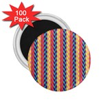 Colorful Chevron Retro Pattern 2.25  Magnets (100 pack)  Front