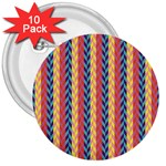 Colorful Chevron Retro Pattern 3  Buttons (10 pack)  Front