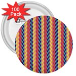 Colorful Chevron Retro Pattern 3  Buttons (100 pack)  Front