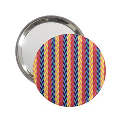 Colorful Chevron Retro Pattern 2.25  Handbag Mirrors