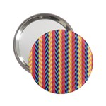 Colorful Chevron Retro Pattern 2.25  Handbag Mirrors Front