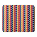 Colorful Chevron Retro Pattern Large Mousepads Front