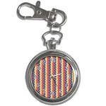 Colorful Chevron Retro Pattern Key Chain Watches Front