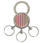 Colorful Chevron Retro Pattern 3-Ring Key Chains Front