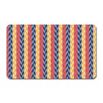 Colorful Chevron Retro Pattern Magnet (Rectangular) Front
