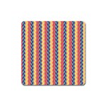 Colorful Chevron Retro Pattern Square Magnet Front