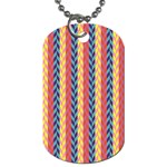 Colorful Chevron Retro Pattern Dog Tag (One Side) Front