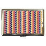 Colorful Chevron Retro Pattern Cigarette Money Cases Front