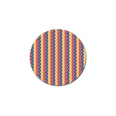 Colorful Chevron Retro Pattern Golf Ball Marker