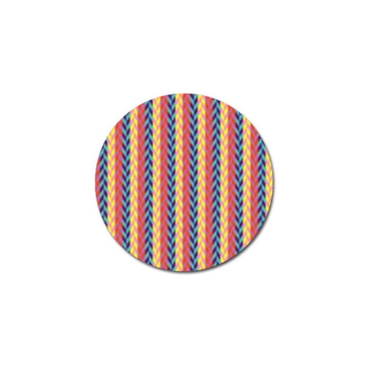 Colorful Chevron Retro Pattern Golf Ball Marker (10 pack)