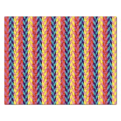 Colorful Chevron Retro Pattern Rectangular Jigsaw Puzzl