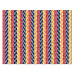 Colorful Chevron Retro Pattern Rectangular Jigsaw Puzzl Front