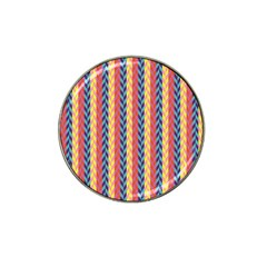 Colorful Chevron Retro Pattern Hat Clip Ball Marker (10 Pack)