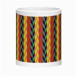 Colorful Chevron Retro Pattern Night Luminous Mugs Center