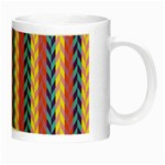 Colorful Chevron Retro Pattern Night Luminous Mugs Right