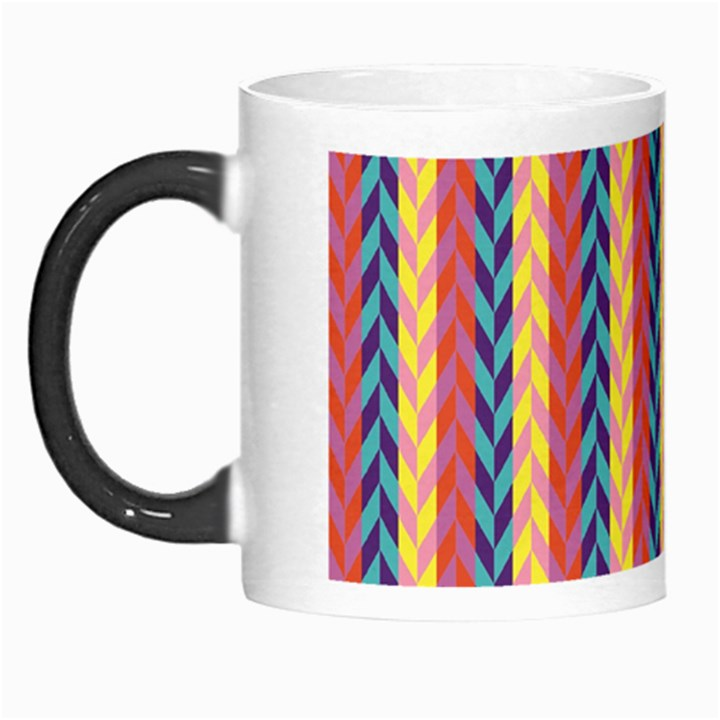 Colorful Chevron Retro Pattern Morph Mugs