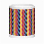 Colorful Chevron Retro Pattern Morph Mugs Center