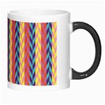 Colorful Chevron Retro Pattern Morph Mugs Right