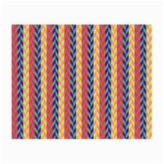 Colorful Chevron Retro Pattern Small Glasses Cloth