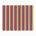 Colorful Chevron Retro Pattern Small Glasses Cloth Front