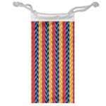 Colorful Chevron Retro Pattern Jewelry Bags Front
