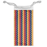 Colorful Chevron Retro Pattern Jewelry Bags Back