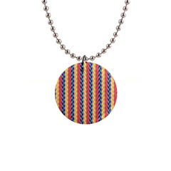 Colorful Chevron Retro Pattern Button Necklaces