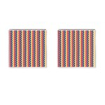 Colorful Chevron Retro Pattern Cufflinks (Square) Front